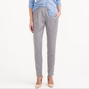 J Crew Harlow Career Pants Wool Blend Brushed Gray